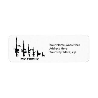 My Family (I Love Guns) Return Address Label
