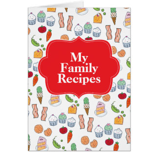 My Family Recipes Card