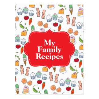 My Family Recipes Postcard