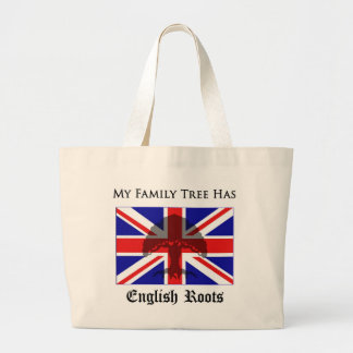 """""""My Family Tree Has English Roots"""" tote bag"""