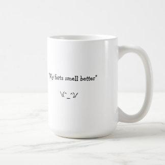 My farts smell better basic white mug