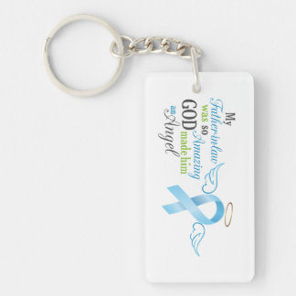My Father in law An Angel - Prostate Cancer Single-Sided Rectangular Acrylic Key Ring
