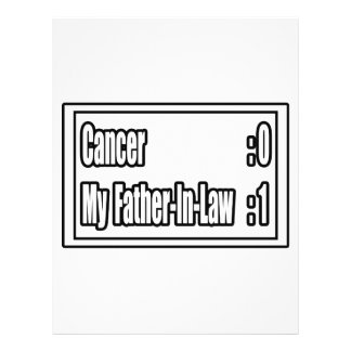 My Father-in-Law Beat Cancer (Scoreboard) Flyer Design