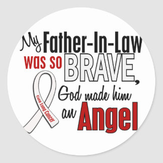 My Father-In-Law Is An Angel Lung Cancer Classic Round Sticker