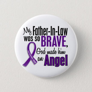 My Father-In-Law Is An Angel Pancreatic Cancer 6 Cm Round Badge