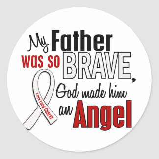 My Father Is An Angel Lung Cancer Sticker