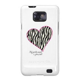 My Favorite Animal Is Zebra Print Galaxy S2 Case