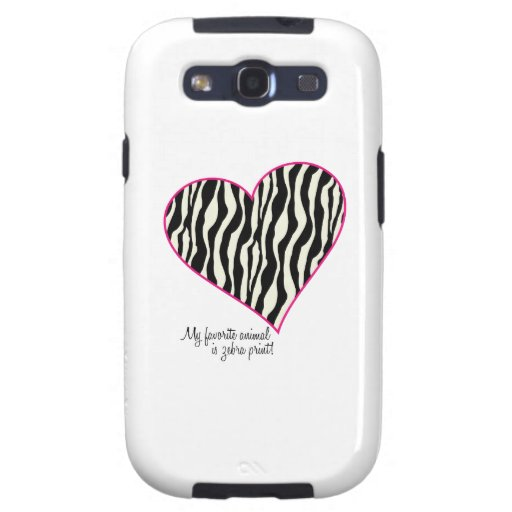 My Favorite Animal Is Zebra Print Samsung Galaxy SIII Cover