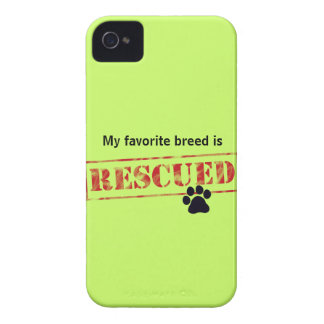 My Favorite Breed Is Rescued iPhone 4 Case-Mate Cases