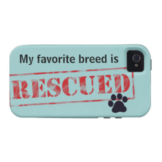 My Favorite Breed Is Rescued Vibe iPhone 4 Cases