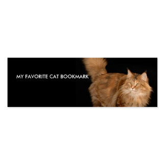 My Favorite Cat Bookmark Pack Of Skinny Business Cards