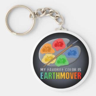 My Favorite Color Is Earthmover Scraper Key Chain