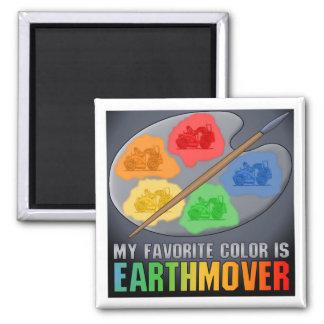 My Favorite Color Is Earthmover Scraper Magnet