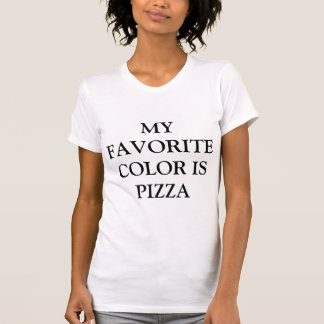 My favorite color is pizza White Fashion funny T-Shirt