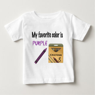 My Favorite Color is Purple Baby T-Shirt