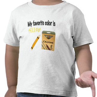 My Favorite Color is Yellow T Shirt