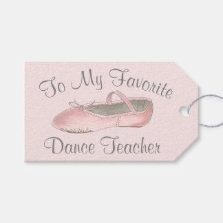 My Favorite Dance Teacher Ballet Shoe Ballerina