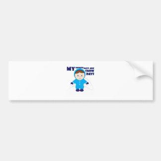 My Favorite Days Bumper Stickers