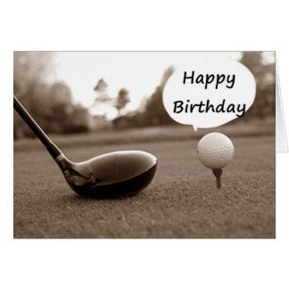 MY FAVORITE GOLFER ON HIS BIRTHDAY GREETING CARD