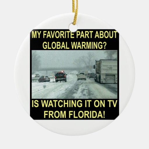 My Favorite Part About Global Warming Is On MY TV Christmas Tree Ornament