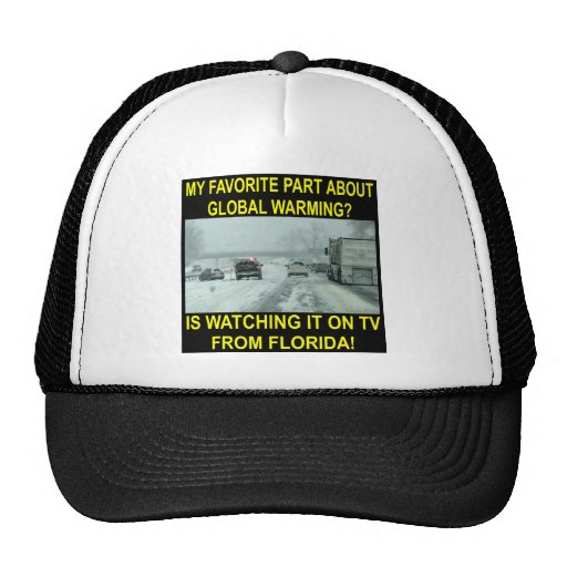 My Favorite Part About Global Warming Is On MY TV Hat