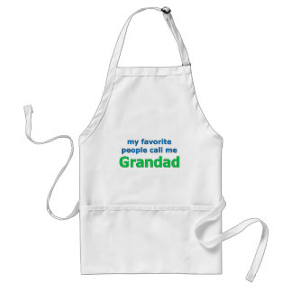 my favorite people call me grandad standard apron