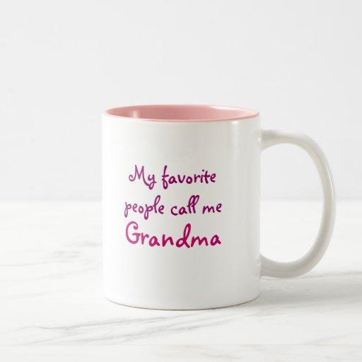 My favorite people call me Grandma Mug