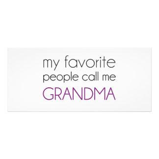 My Favorite People Call Me Grandma Custom Rack Card