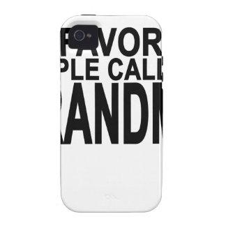 My favorite people call me Grandma Women's T-Shirt Case-Mate iPhone 4 Cases