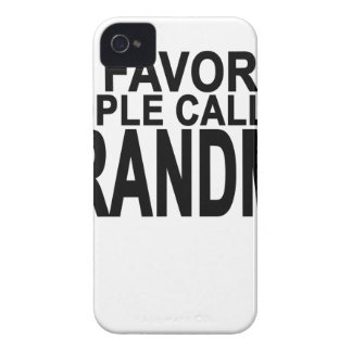 My favorite people call me Grandma Women's T-Shirt iPhone 4 Case-Mate Cases
