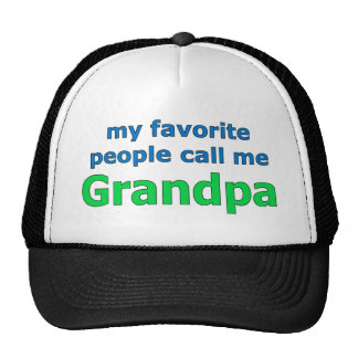 my favorite people call me grandpa cap