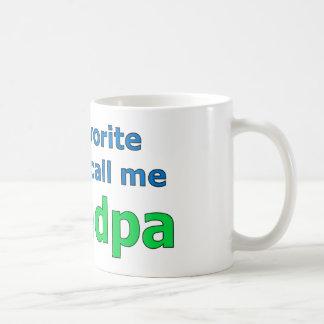 my favorite people call me grandpa coffee mug