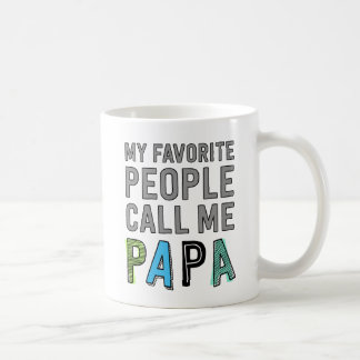 My Favorite People Call Me Papa Basic White Mug