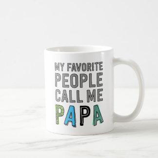 My Favorite People Call Me Papa Basic White Mug