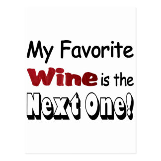 My Favorite Wine Postcard