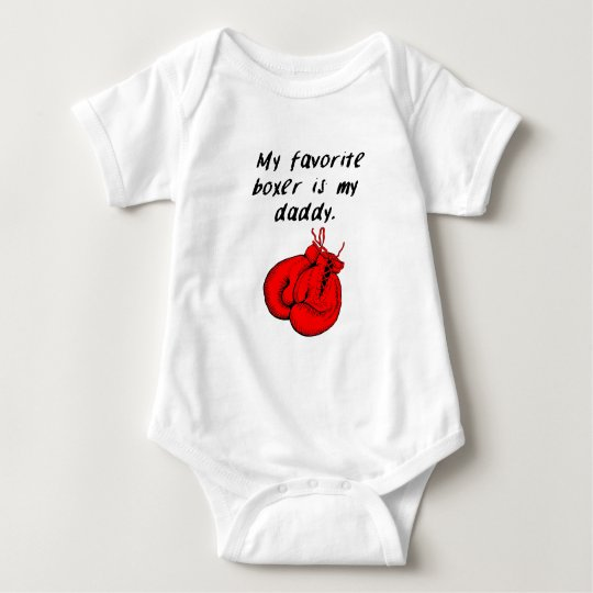 My Favourite Boxer Is My Daddy Baby Bodysuit