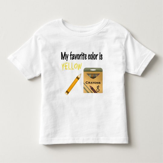 My Favourite Colour is Yellow Toddler T-Shirt