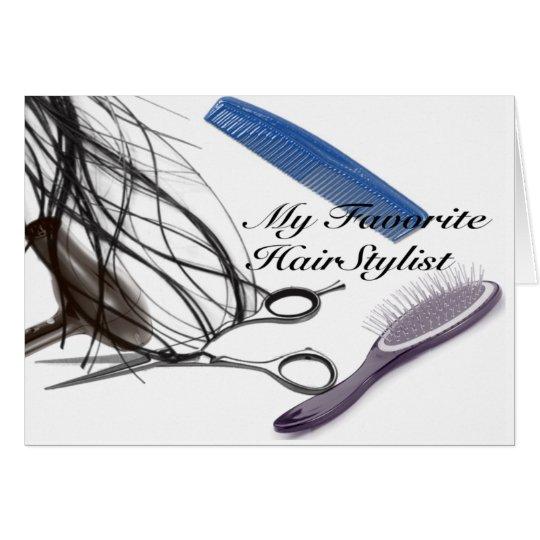 my favourite Hair stylist Card