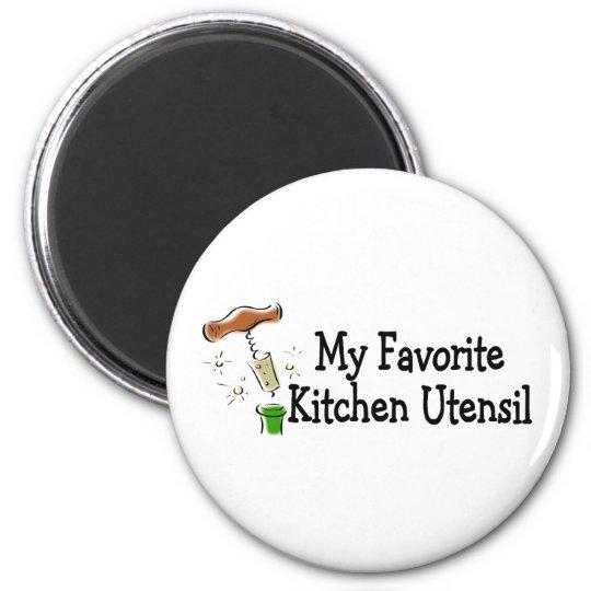 My Favourite Kitchen Utensil 6 Cm Round Magnet