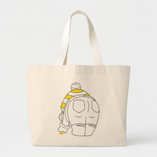 My favourite sea glass is yellow large tote bag