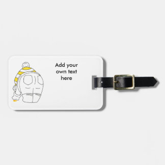 My favourite sea glass is yellow luggage tag