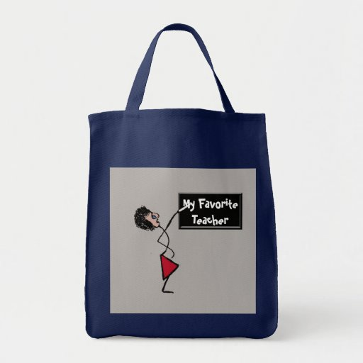 My Favourite Teacher Grocery Tote Bag