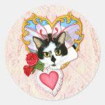 My Feline Valentine Cat Sticker