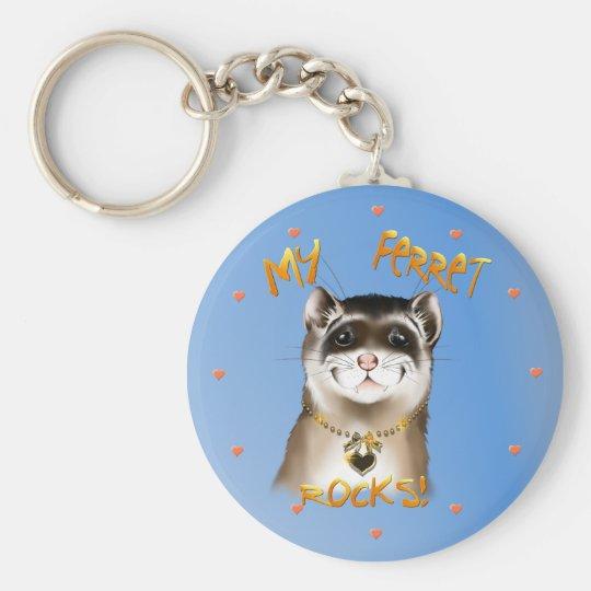 My Ferret Rocks Keychain