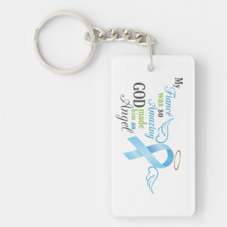 My Fiancé An Angel - Prostate Cancer Single-Sided Rectangular Acrylic Key Ring