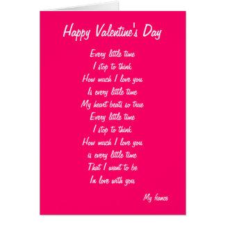 My fiance valentine's day card