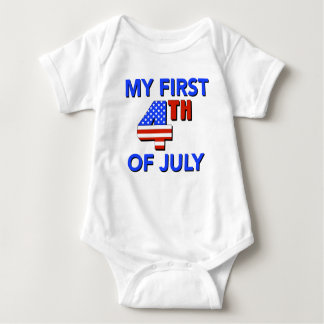My First 4th of July Baby Shirt