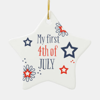 My first 4th of July Christmas Ornament
