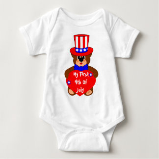my first 4th of july,edit text baby bodysuit