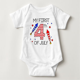 My First 4th of July Infant Body Suit Infant Creeper